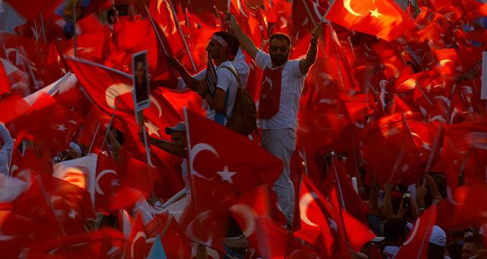 Los partidarios del presidente Recep Tayyip Erdogan