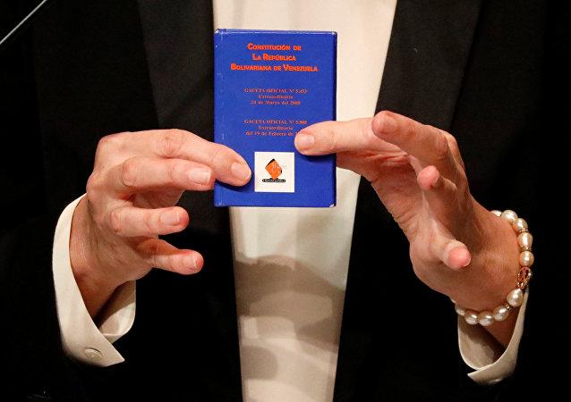 Copia de la Constitución de Venezuela