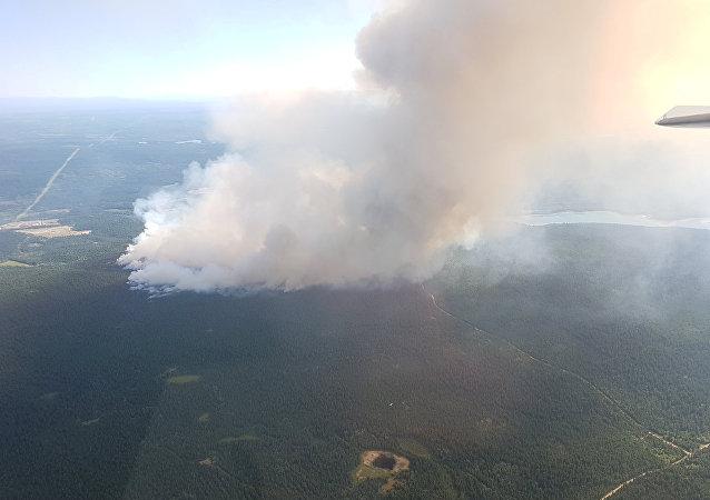 Incendios forestales en la Columbia Británica, Canadá