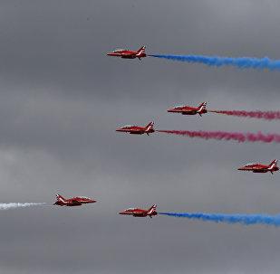Los Red Arrows de la Real Fuerza Aérea del Reino Unido