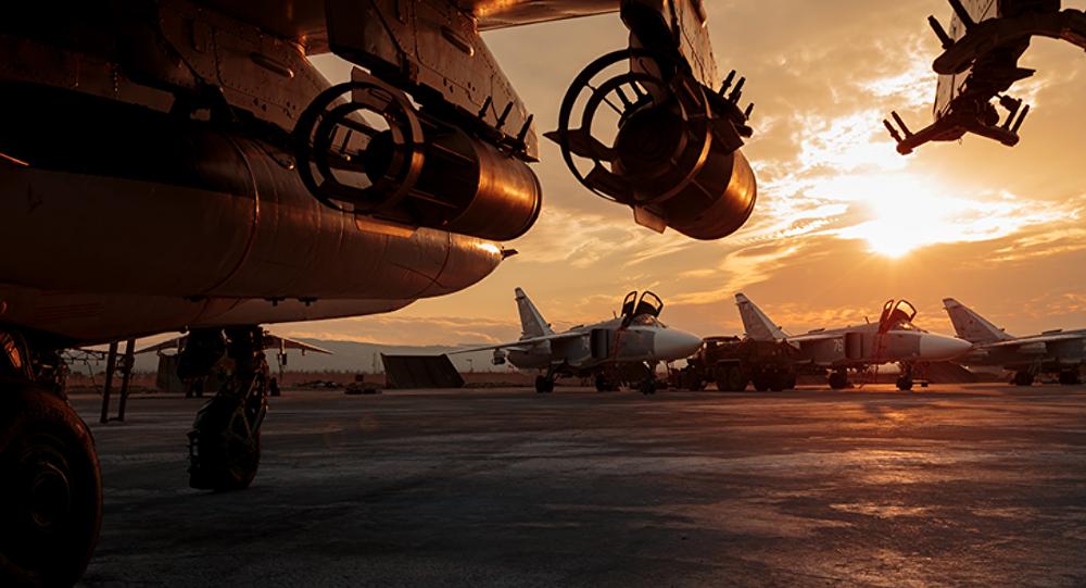 Aviones de las Fuerzas Aeroespaciales de Rusia en la base siria de Hmeymim (archivo)