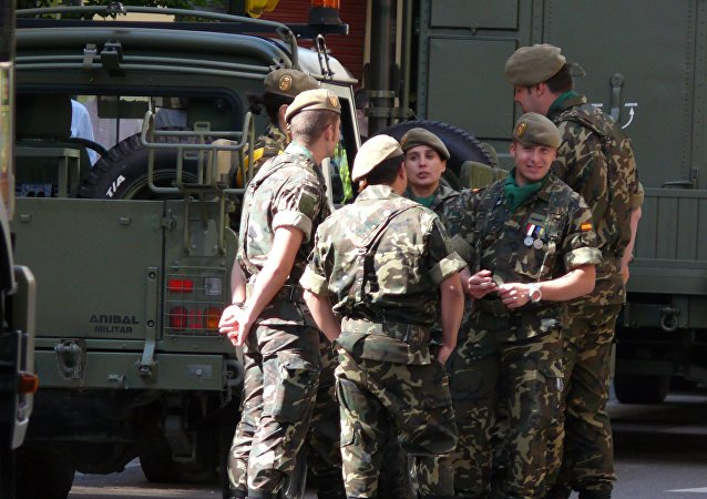 Los militares españoles (imagen referencial)