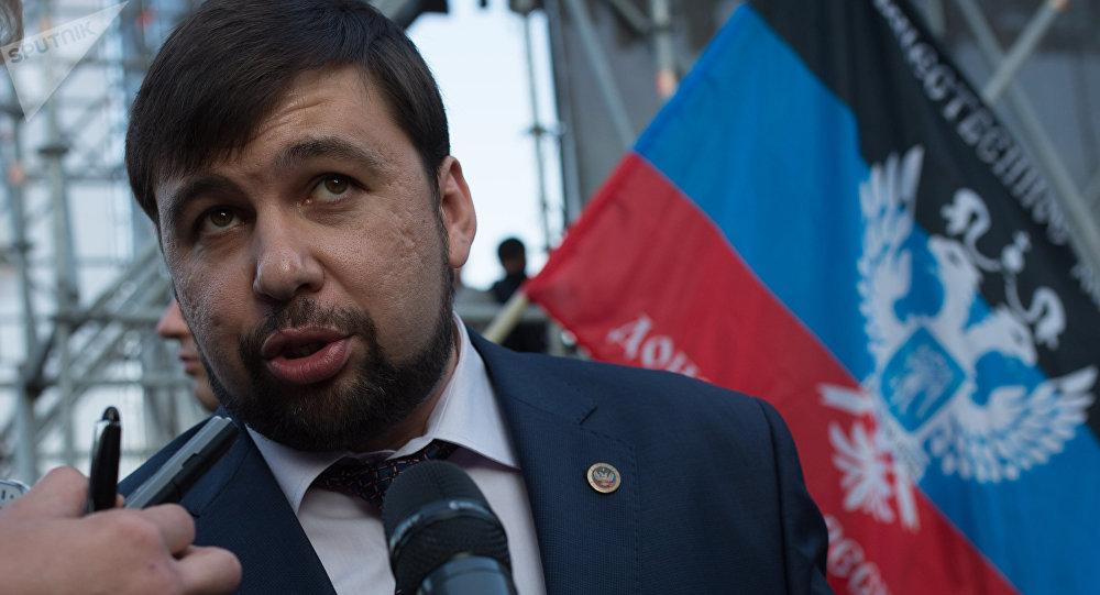 Denís Pushilin, representante de la autoproclamada República Popular de Donetsk (archivo)