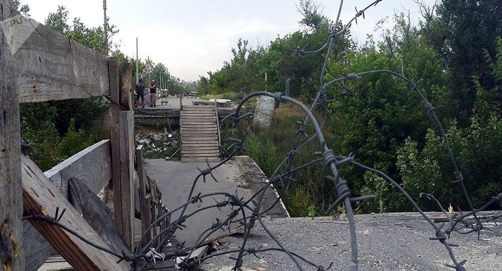 Línea de separación en Donbás