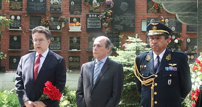 El embajador de Perú en Rusia, Luis Benjamín Chimoy Arteaga