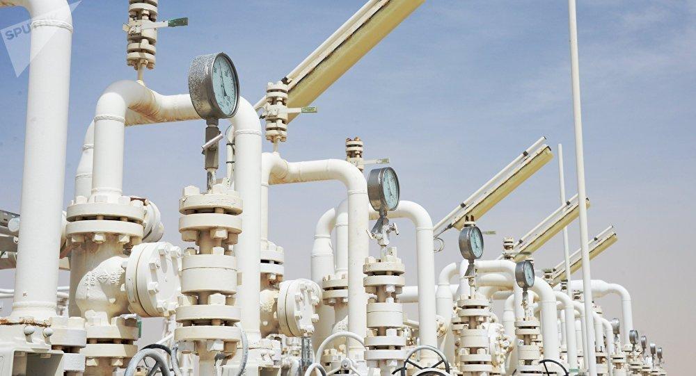 Una planta de gas cerca de la ciudad siria de Homs