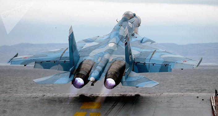 Despegue desde el portaviones ruso Almirante Kuznetsov