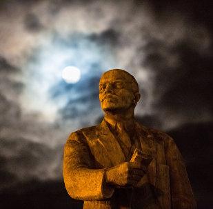 Un monumento a Vladímir Lenin