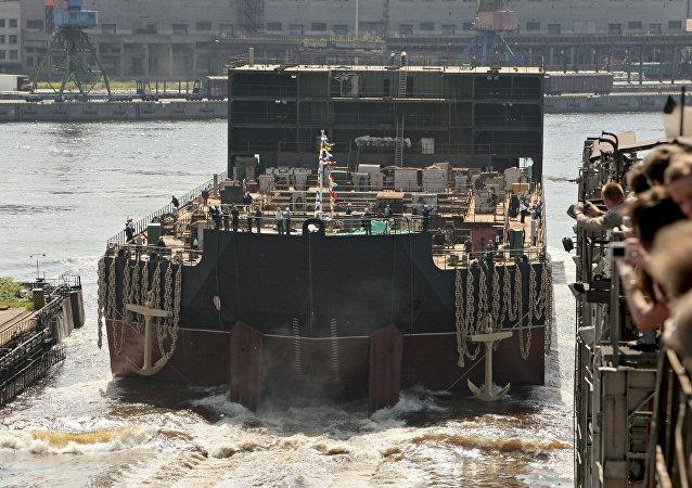 La central nuclear flotante Académico Lomonósov