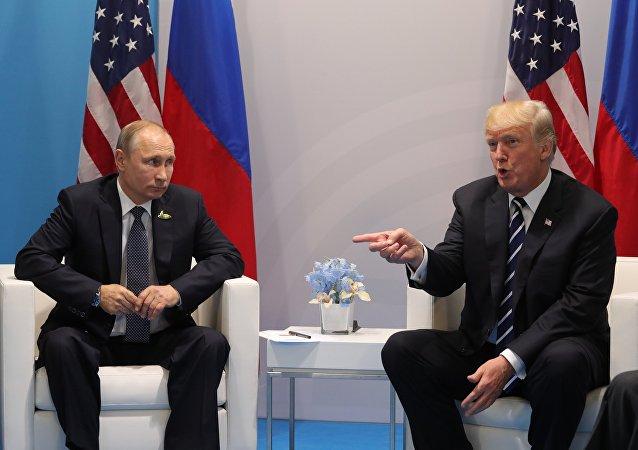 Presidente de Rusia, Vladímir Putin, y presidente de EEUU, Donald Trump