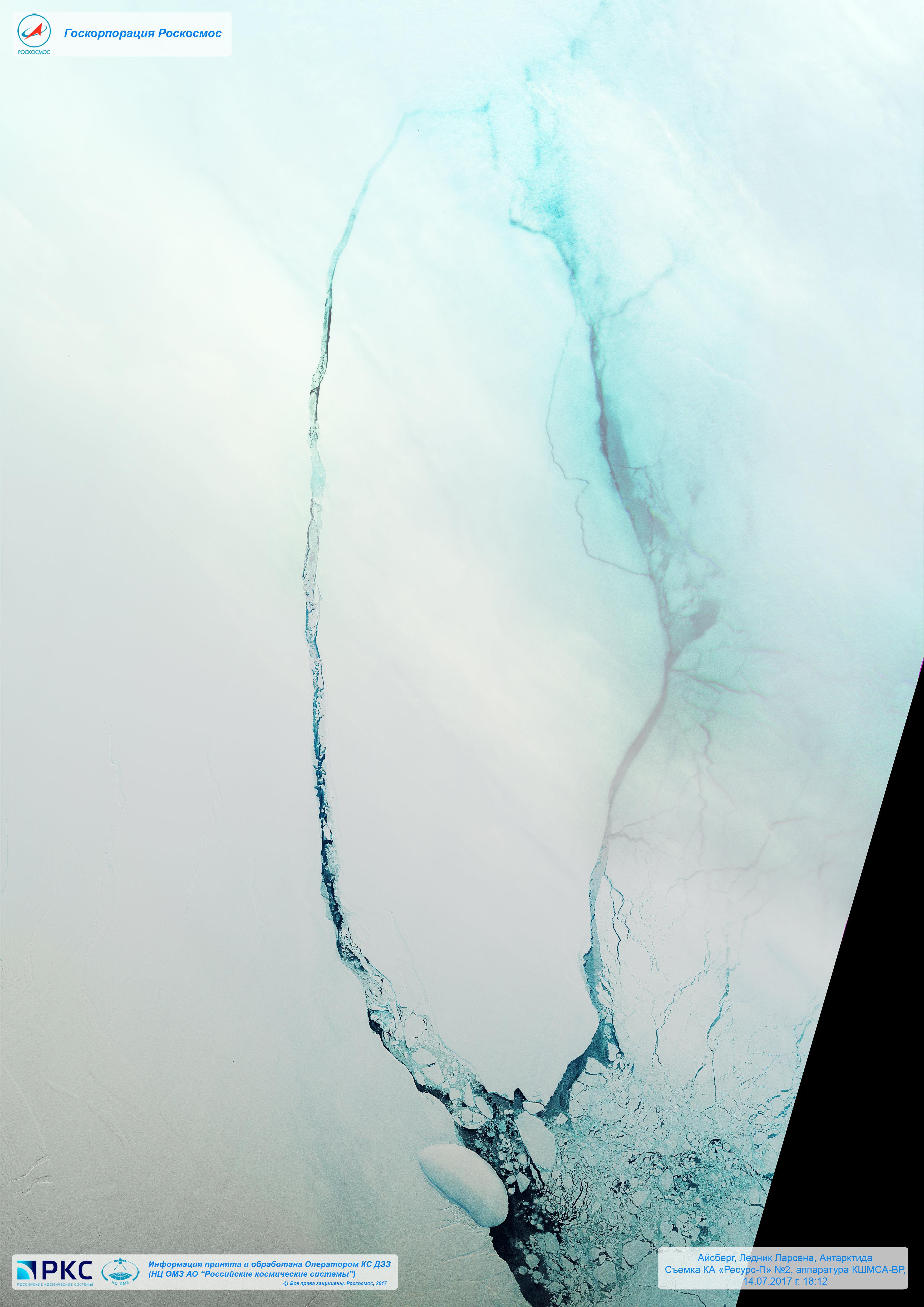 Iceberg desprendido del glaciar Larsen