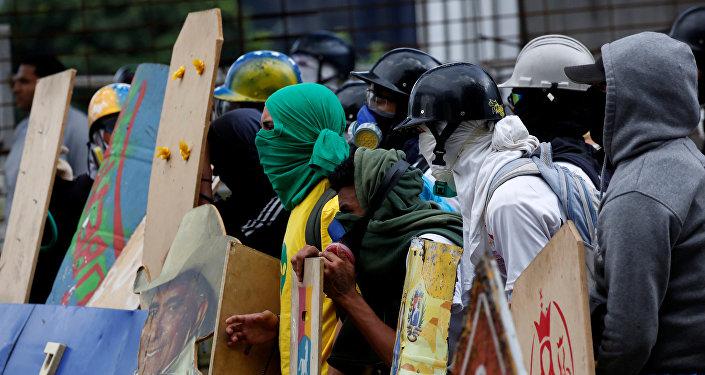 Protesta contra Asamblea Nacional Constituyente en Venezuela