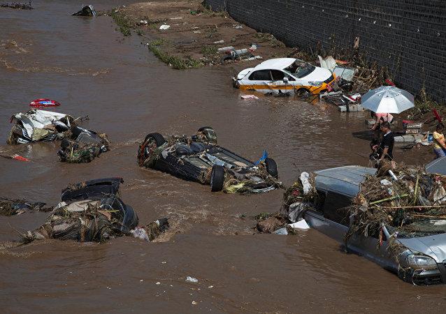 Consecuencias de inundaciones en China