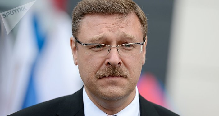 Konstantín Kosachov, jefe del comité para asuntos internacionales del Consejo de la Federación