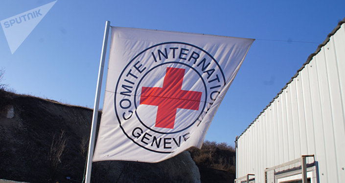 La bandera del Comité Internacional de la Cruz Roja