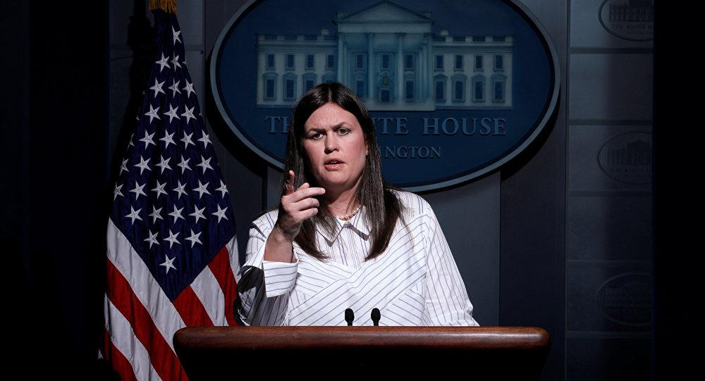 Sarah Huckabee Sanders, la portavoz de la Casa Blanca
