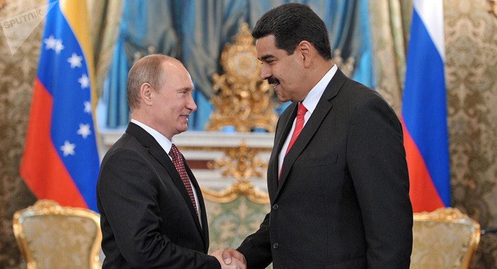 Vladímir Putin, presidente de Rusia, y Nicolás Maduro, presidente de Venezuela (archivo)