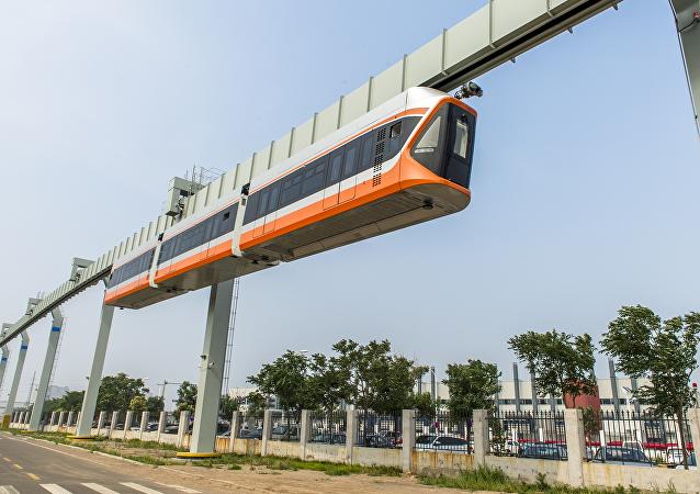 Un tren 'volador' chino