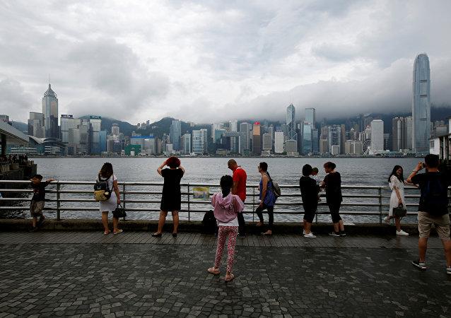 Tormenta en Hong Kong (archivo)