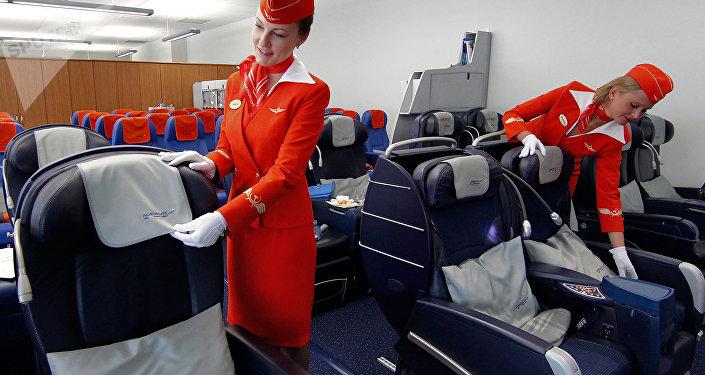 Las azafatas de Aeroflot (imagen referencial)