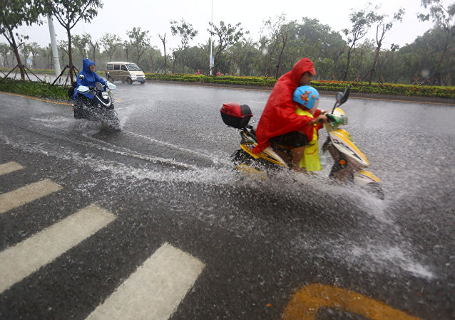 Fuertes lluvias en China