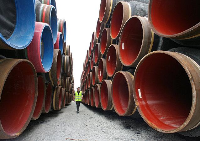 Construcción del gasoducto Nord Stream.