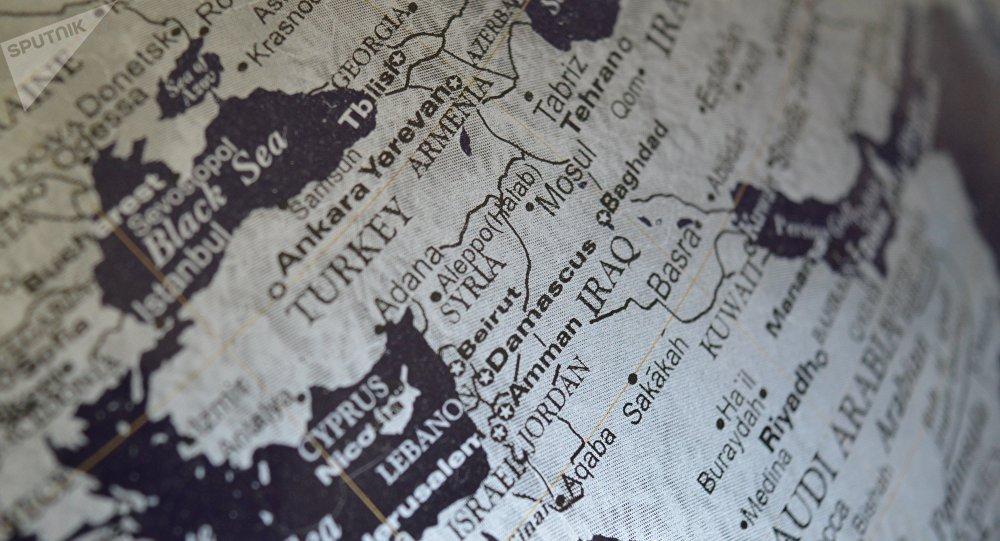 El mapa de Oriente Medio (imagen referencial)