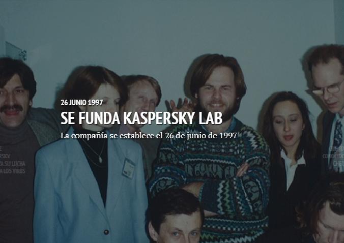 26 de junio de 1997, se funda Kaspersky Lab