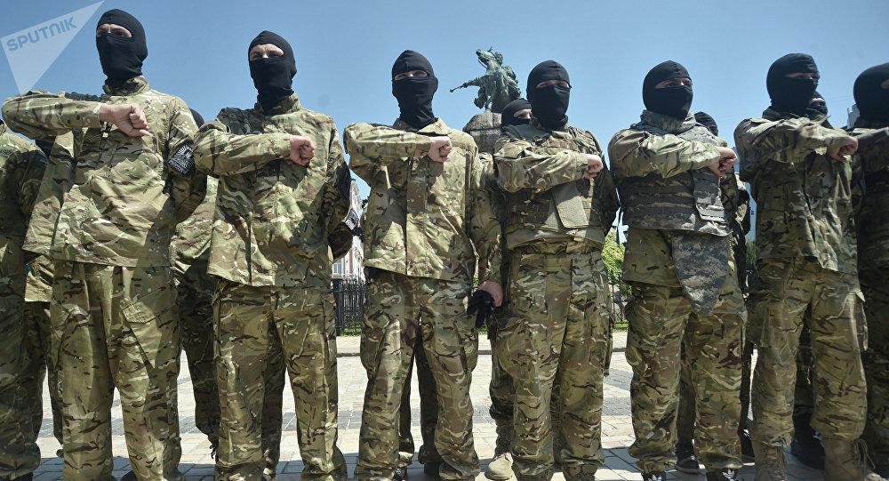 Miembros del Batallón Azov (archivo)