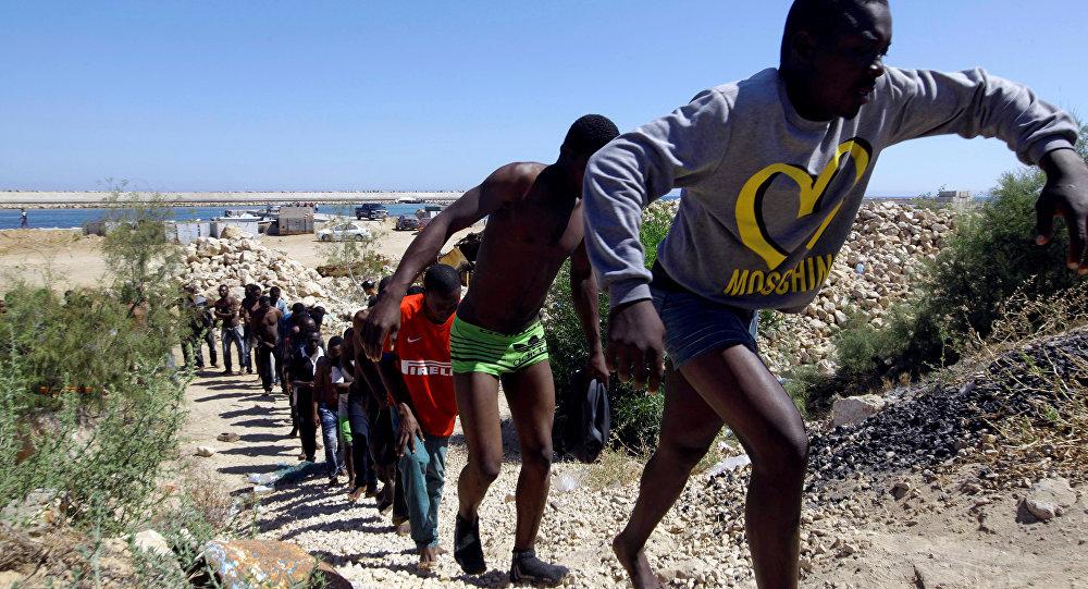 Los migrantes libios (archivo)