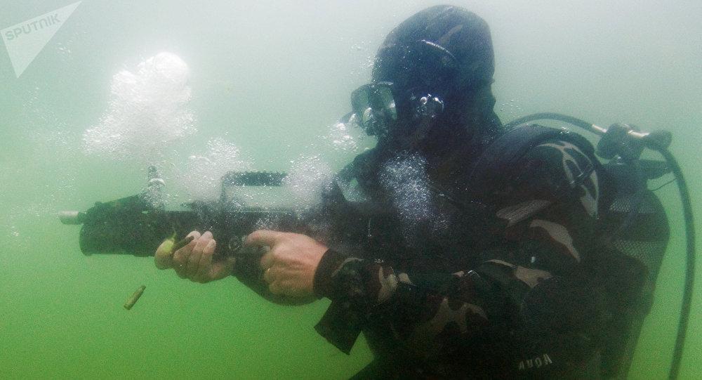Las pruebas del fusil de asalto anfibio ADS (archivo)