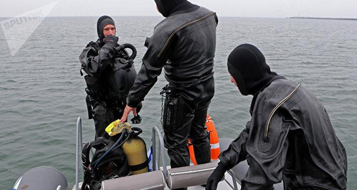 Los nadadores de combate de la Flota del Báltico (archivo)
