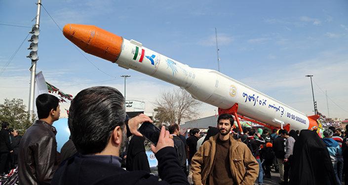 El lanzador espacial Simorgh, Irán (archivo)
