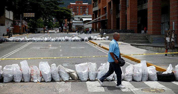 Huelga opositora en Caracas, Venezuela (archivo)