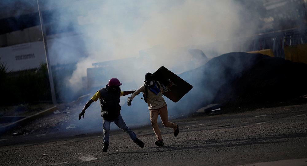 Paro en Carabobo: PNB reprimió y disolvió a manifestantes en Mañongo