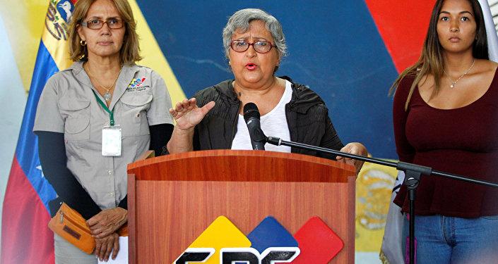 Tibisay Lucena, presidente del Consejo Nacional Electoral de Venezuela