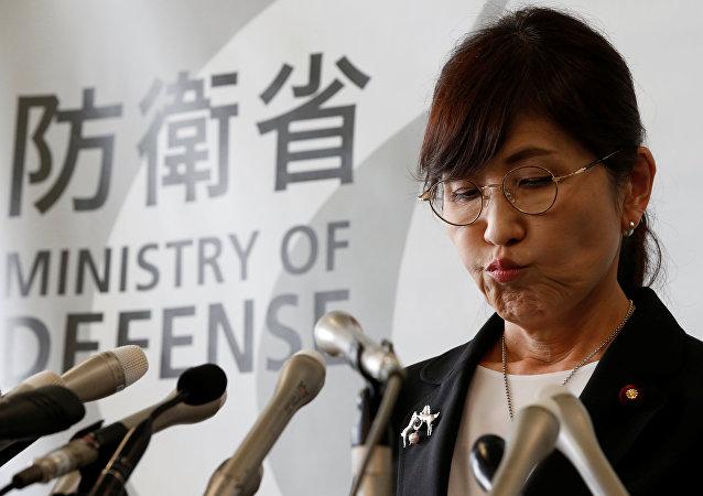 Tomomi Inada, la titular del Ministerio de Defensa de Japón