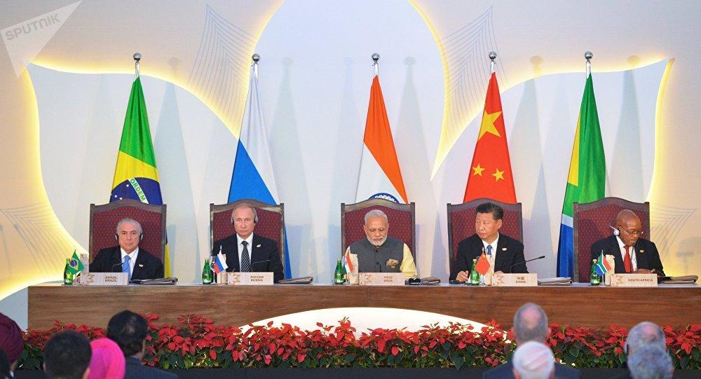Los líderes de BRICS (archivo)