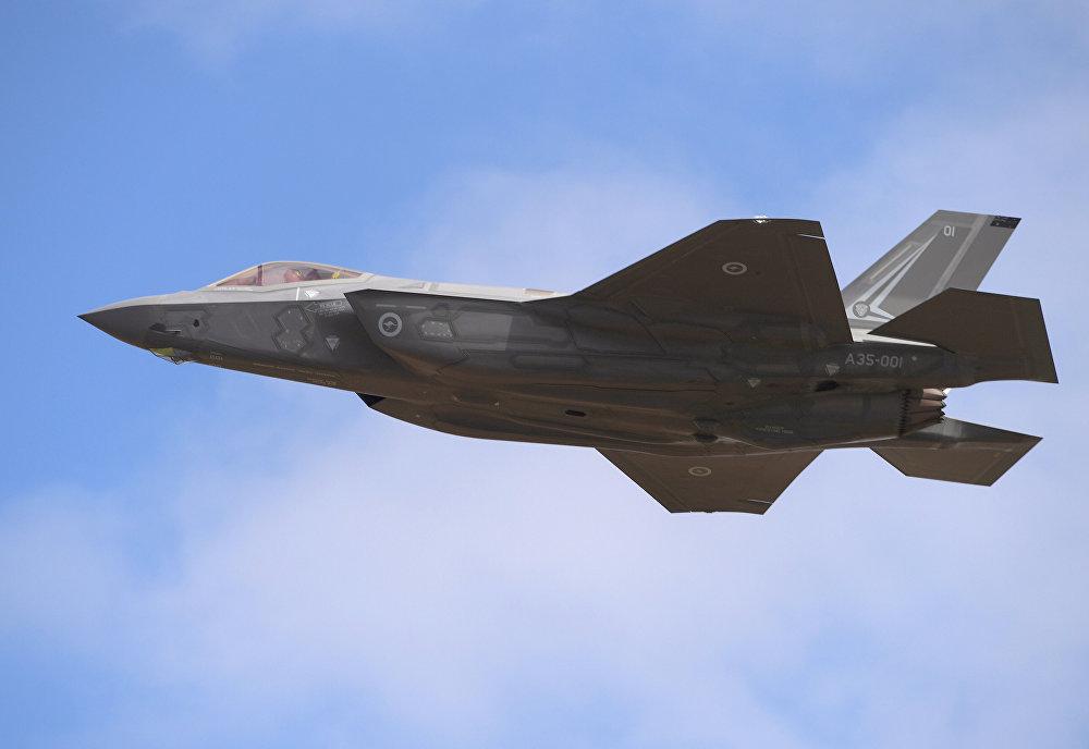 El caza de quinta generación F-35 en el salón de aviación 'Avalon 2017' en Australia