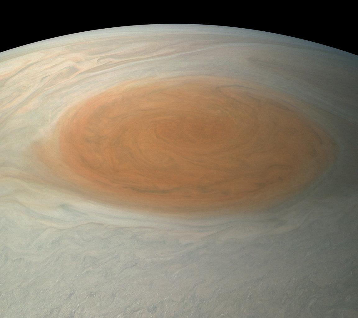 Primera imagen realista de la Gran Mancha Roja de Júpiter
