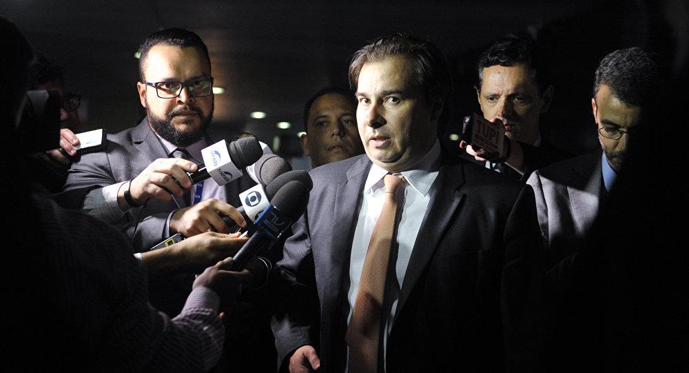 Presidente de la Cámara de Diputados de Brasil, Rodrigo Maia