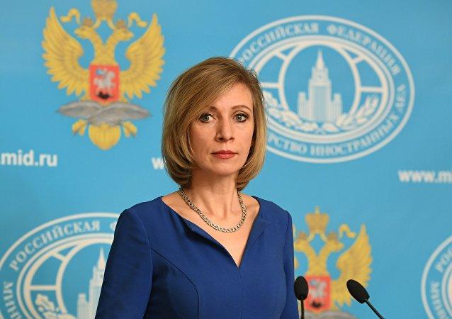 Maria Zajárova, la portavoz de la Cancillería rusa (archivo)