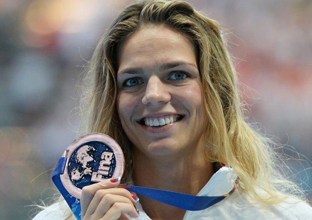 Yulia Efimova, la nadadora de Rusia