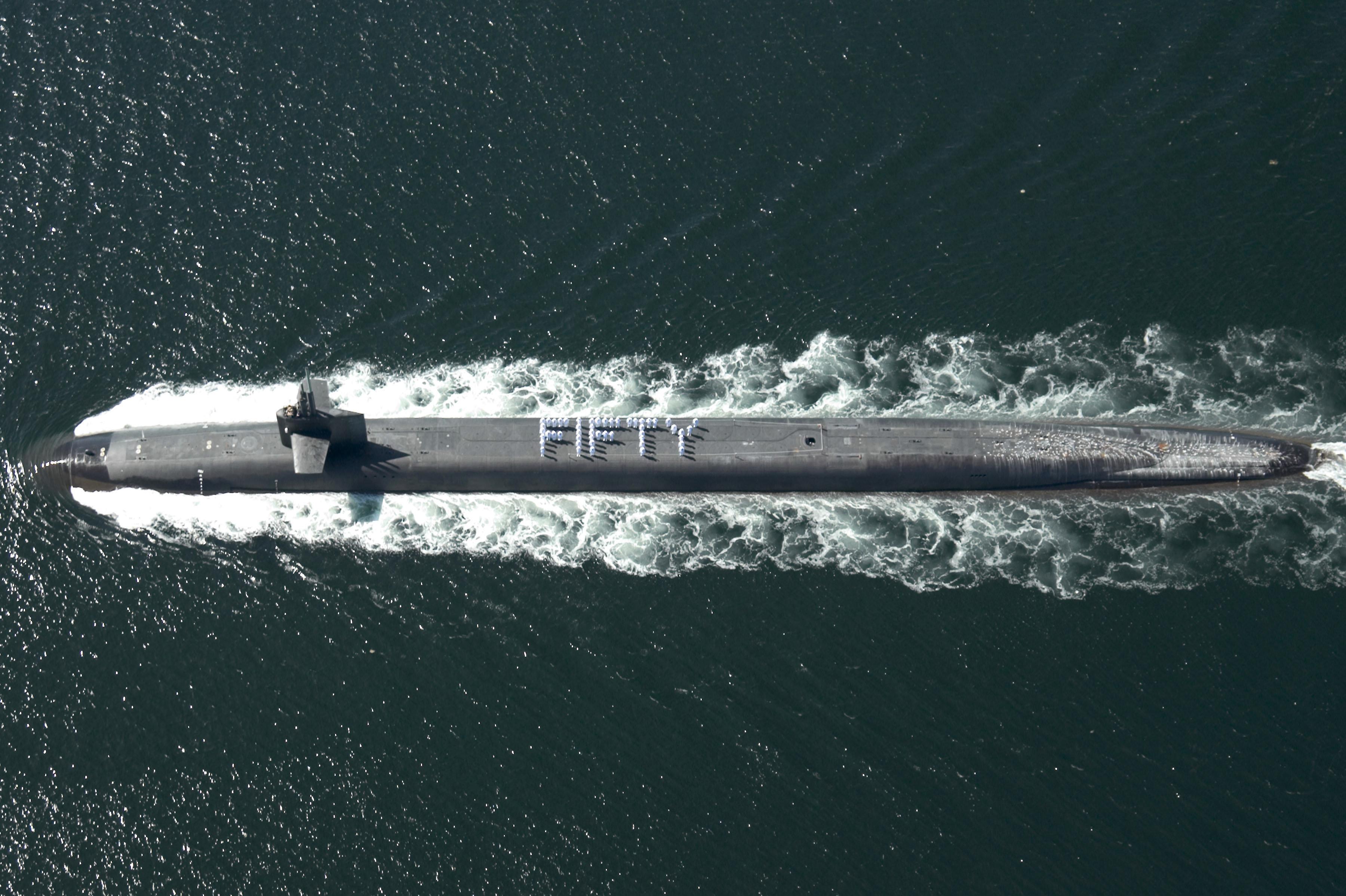 Un submarino de la clase Ohio