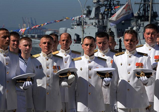 Marineros de la Armada rusa
