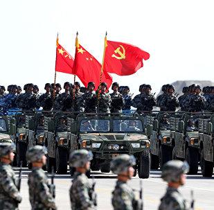 El Ejército de China durante el desfile militar