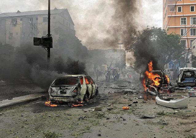 La explosión de un coche bomba en Mogadiscio
