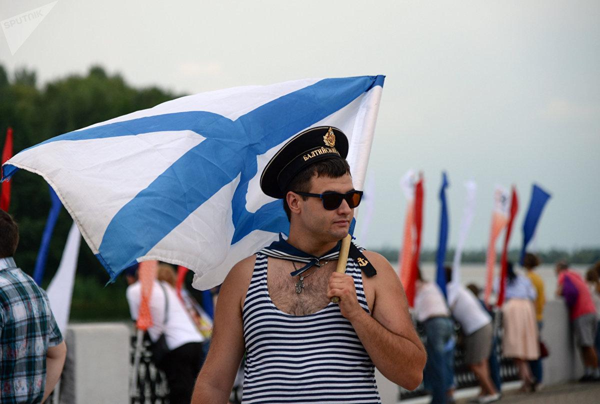 Un marinero de la Flota del Báltico