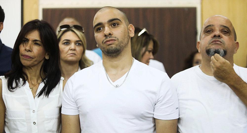 El soldado israelí Elor Azaria en el tribunal