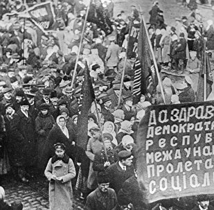 Una manifestación de protesta, 1917